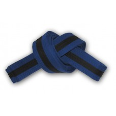 Blue/Black Stripe Belt 4cm Wide Double Wrap for Karate / Taekwondo / Judo / Kendo / Hapkido
