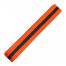 Orange/Black Stripe Belt 4cm Wide Double Wrap for Karate / Taekwondo / Judo / Kendo / Hapkido