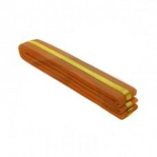 Orange/Golden Stripe Belt 4cm Wide Double Wrap for Karate / Taekwondo / Judo / Kendo / Hapkido