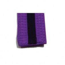 Purple/Black Stripe Belt 4cm Wide Double Wrap for Karate / Taekwondo / Judo / Kendo / Hapkido