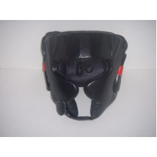Black Genuine Leather Head Gear