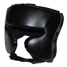 Black Head Gear for Boxing / MMA with Chin Strape